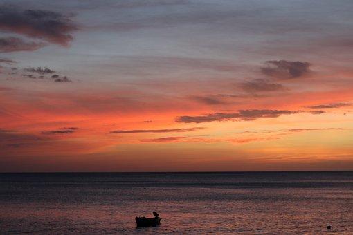 Sun, Sea, Sunset, Reflection, Evening, Horizon