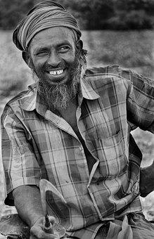 Old, Man, Smile, Happiness, Happy, Farmer, Village
