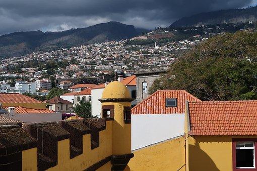 Madeira, Fortress, Hills, Wall