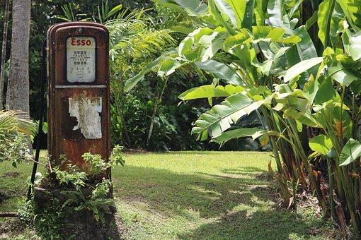 Vintage, Pump, Gasoline, Garden, Former, Fuel