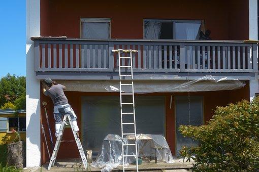 Painter, Home, Slide, Covered, Head