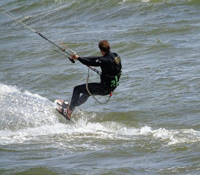 Kite, Surfer, Surf, Water, Ocean, Extreme, Sport