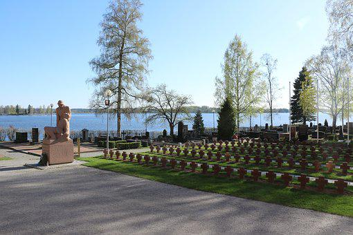 Cemetery, Hero Graves, Headstones, Memorial, Lake