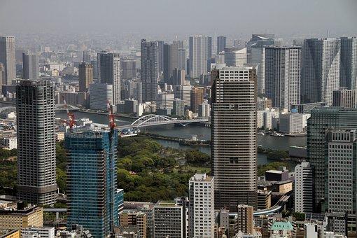 Tokyo, Sky View, City, Architecture, Skyline, Modern