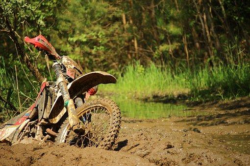 Motorcycle, Mud, Quagmire, Dirt, Swamp, Motocross