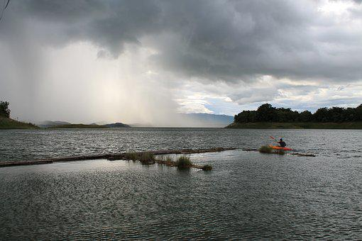 Nature, Storm, Kayak, Rain, Thunderstorm, Landscape