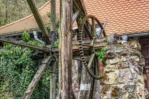 Zahnrat, Drive, Mill Wheel, Old, Rusty, Leave, Run Down