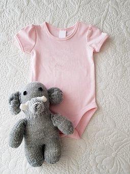 Onesie, Pink, Baby Girl, Digital Product Mockup