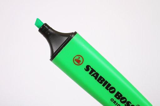 Highlighter, Marker, Pen, Green, Drawing, Design, Set