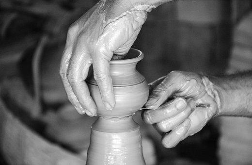 Make, Soil, Pot, Hand