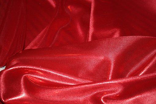 Fabric, Satin, Metallic, Textile, Material, Red
