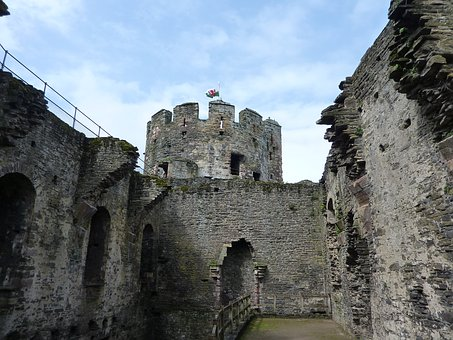 Conwy Castle, Wales, Medieval, Ruins, Architecture