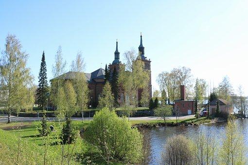 Church, Finnish, Tyrvää, Sastamala, Spring, Tourism