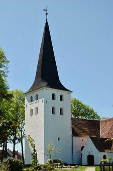 Steeple, Sky, Church