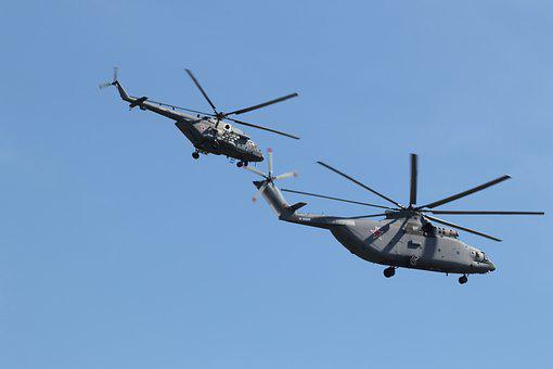 Helicopter, Russia, Moscow, Parade, Russian, Sky, Air
