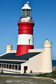 Lighthouse, South Africa, Cape Agulhas, Marine