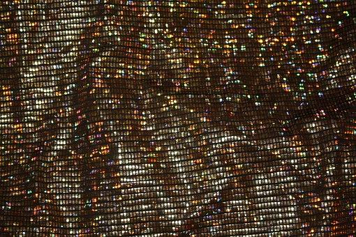 Fabric, Holographic, Glitter, Style, Stylish