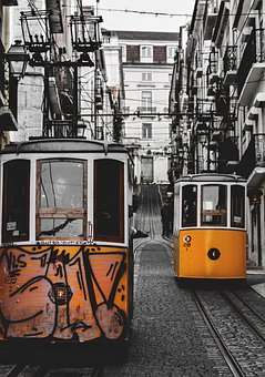 Lisbon, Trams, Tram, The Lisbon Trams, Old