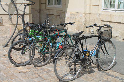 Bicycles, Ukraine, Lviv, Market Square, Travel