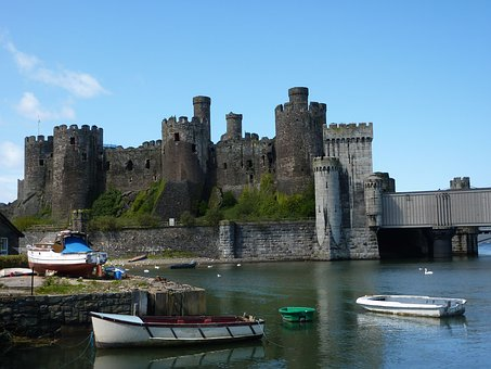 Conwy Castle, Wales, Medieval, Historical, Turret