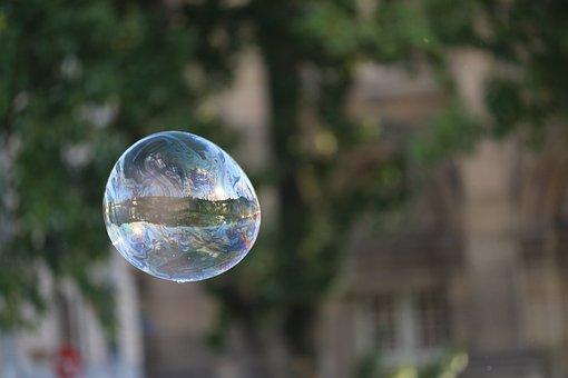 Bubble, City, Urban, Soap, Lightness
