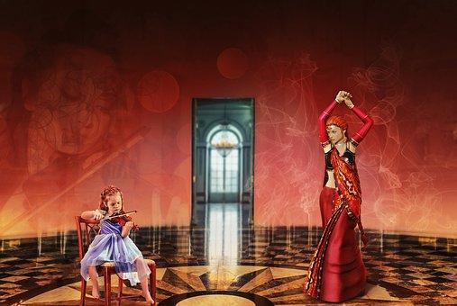 Music, Dance, Art, Violin, Child, Dancer, Oriental