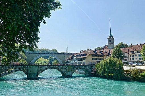 Bridge, Bern, Swiss, Medieval, Landmark, Heritage