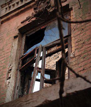 Window, Building, Gloominess, Broken, An Abandoned