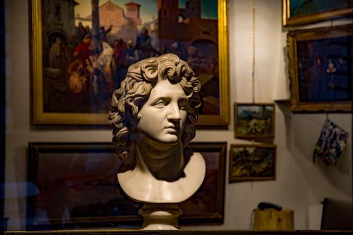 Shop, Boutique, Vitrine, Antique Dealer, Bust, Statue