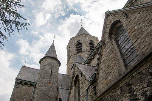 Church, Church Tower, Mariakerke, Belgium, Christianity