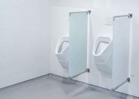 Urinoir, Toilet, Wc, Porcelain, Bathroom, Chrome, Clean