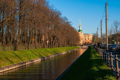 St Petersburg Russia, Ditch, Channel