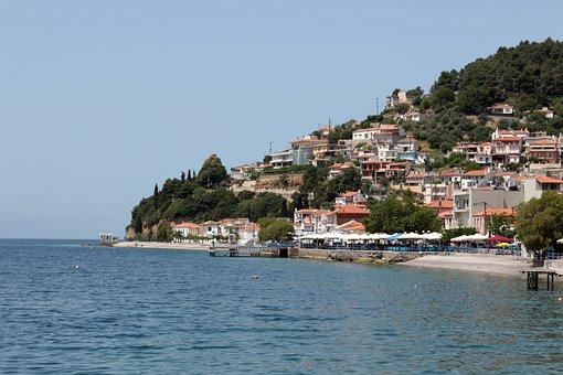 Lake, Evia, Island, Sea, Greece, Nature, Blue