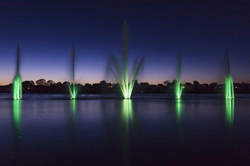 Fountain, Green, Denmark, Silkeborg Langsø