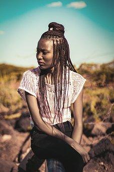 Girl, Africa, Kenya, Mountain, Rocks, Trees, Forest