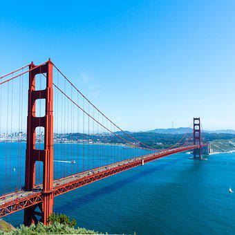 San Francisco, Golden Gate Bridge, Bridge, California