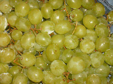 Grapes, Fruit, Green, Bunch