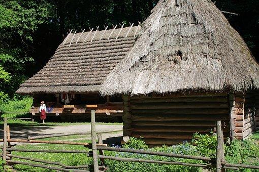 Hut, Wooden House, Ukraine, Lviv, Shevchenkivs'kyi Hai