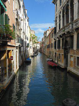Venice, Channel, Italy, Channels, Boats, Facades