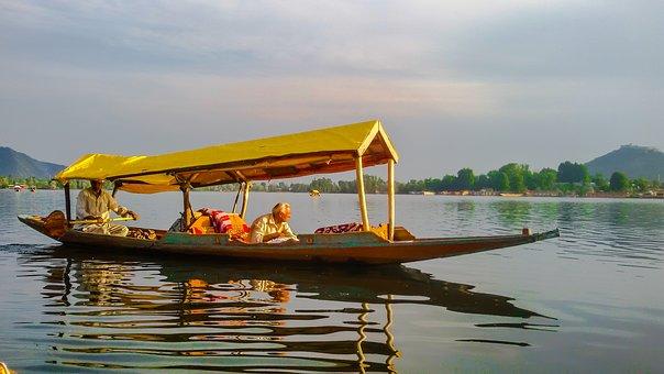 Dal, Lake, Srinagar, Landscape, Kashmir, Shikara