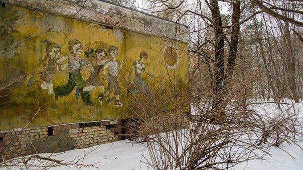Children, Mural, Painting, Playing, Kindergarten