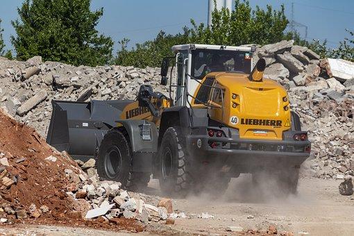 Construction Machine, Site, Wheel Loader, Liebherr
