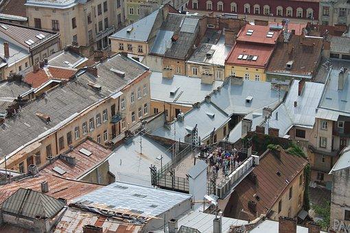 Roof, Old Town, Ukraine, Lviv, City Centre, Antiquity