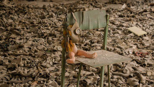 Doll, Gas, Mask, Children, Chair, Creepy, Child, Spooky