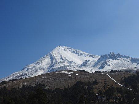 Motan, Volcano, Landscape, Snow, Clouds, Stone, Mexico