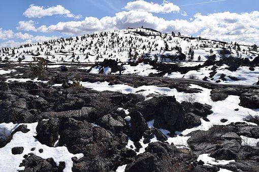 Snow, Snowy, Snow-capped, Mountain, Trees, Treeline