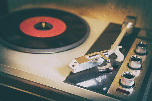 Turntable, Plate, Vinyl, Music, Sound, Entertainment