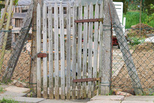 Garden Door, Allotment, Garden, Nature, Fenced, Door