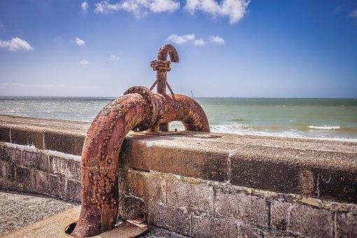 Oil, Pipe, France, Le Havre, Port, Industry, Industrial
