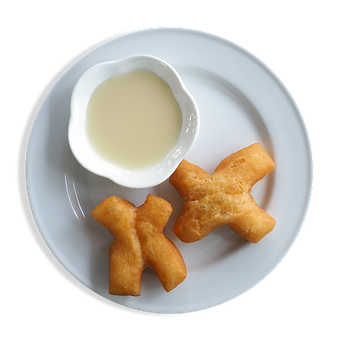 Plate, Fried Food, Dip, White, Chinese, Cooked